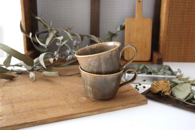 マグカップ チタン 茶 半磁器 後藤奈々 画像4