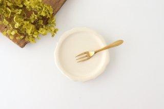 輪花小皿 白 半磁器 後藤奈々商品画像