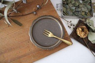 輪花小皿 茶 半磁器 後藤奈々商品画像