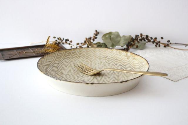 ミート皿 ヘリンボーン 半磁器 ツキゾエハル 画像2