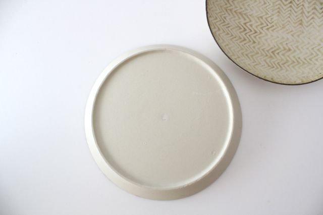 ミート皿 ヘリンボーン 半磁器 ツキゾエハル 画像3