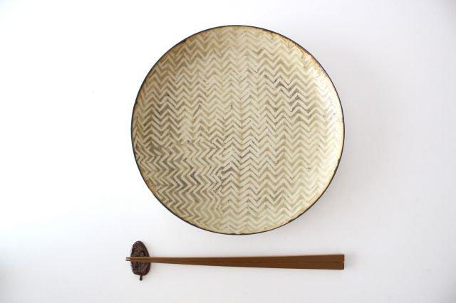 ミート皿 ヘリンボーン 半磁器 ツキゾエハル 画像4