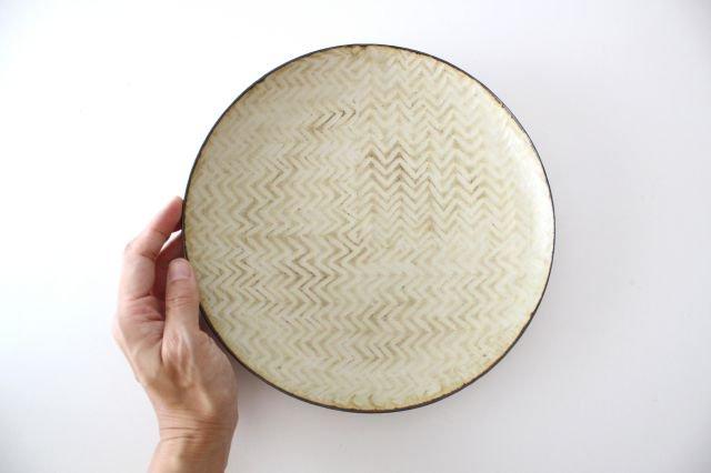 ミート皿 ヘリンボーン 半磁器 ツキゾエハル 画像6