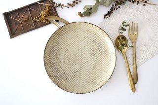 ミート皿 ヘリンボーン 半磁器 ツキゾエハル商品画像