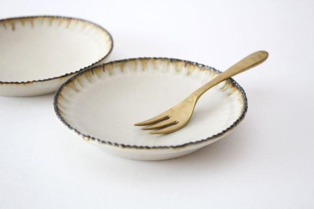 皮鯨小皿 丸 灰マット 半磁器 ツキゾエハル 画像2