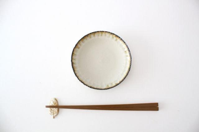 皮鯨小皿 丸 灰マット 半磁器 ツキゾエハル 画像5