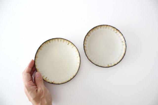 皮鯨小皿 丸 灰マット 半磁器 ツキゾエハル 画像6