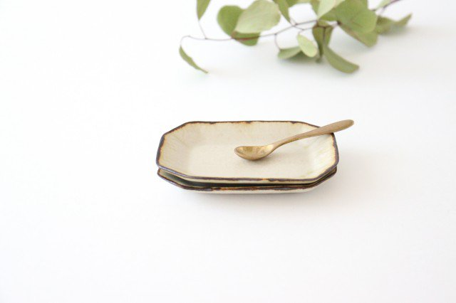皮鯨豆皿 角 灰マット 半磁器 ツキゾエハル 画像3