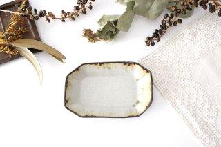 皮鯨豆皿 角 灰マット 半磁器 ツキゾエハル商品画像