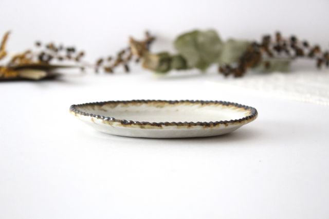 皮鯨豆皿 オーバル 灰マット 半磁器 ツキゾエハル 画像4
