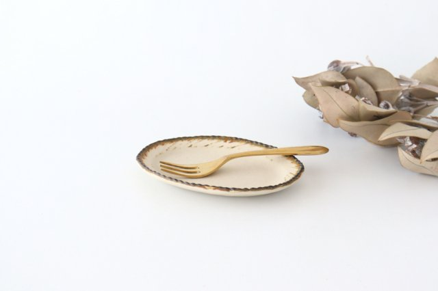 皮鯨豆皿 オーバル 灰マット 半磁器 ツキゾエハル 画像5