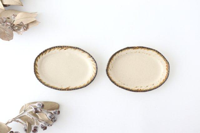 皮鯨豆皿 オーバル 灰マット 半磁器 ツキゾエハル 画像6