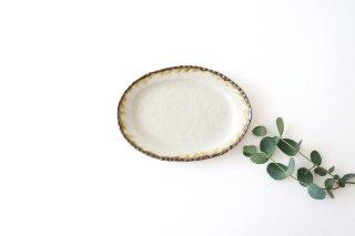 皮鯨豆皿 オーバル 灰マット 半磁器 ツキゾエハル商品画像