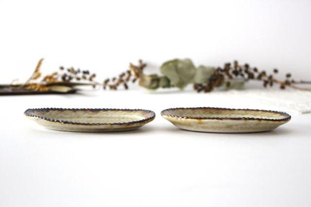 皮鯨豆皿 オーバル コハク 半磁器 ツキゾエハル 画像2