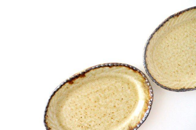 皮鯨豆皿 オーバル コハク 半磁器 ツキゾエハル 画像4
