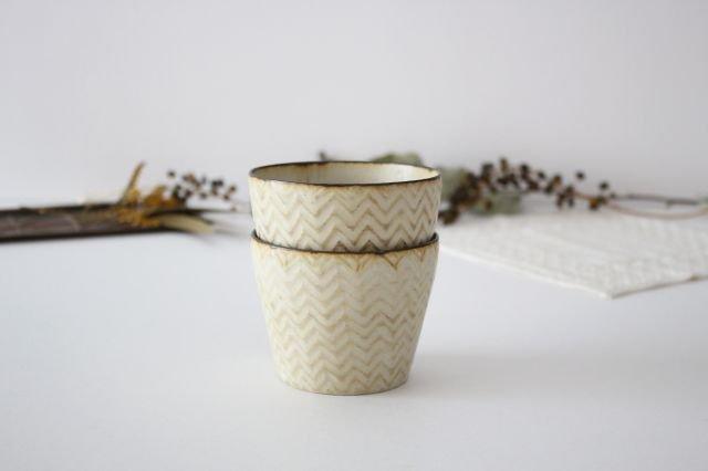 フリーカップ ヘリンボーン 半磁器 ツキゾエハル 画像3