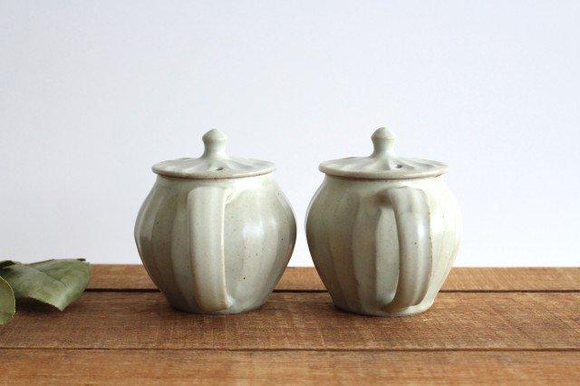 【一点もの】ポット 白 しのぎ 【A】 陶器 笠原良子 画像3