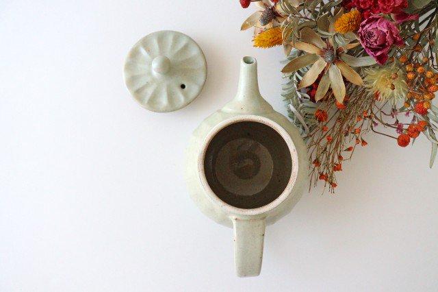 【一点もの】ポット 白 太しのぎ 【C】 陶器 笠原良子 画像2