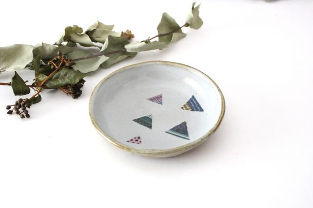 【一点もの】 三角 小皿 【B】 陶器 相澤かなえ 画像5
