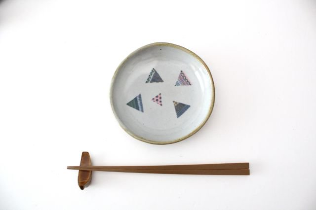 【一点もの】 三角 小皿 【D】 陶器 相澤かなえ 画像2