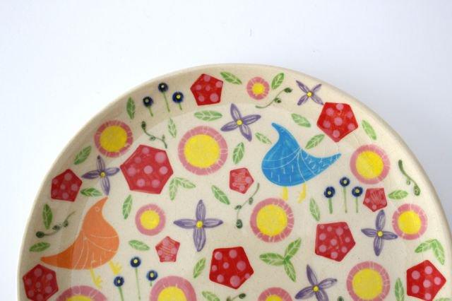 【一点もの】色絵付け大皿 【H】 陶器 工房双子堂 やちむん 画像4