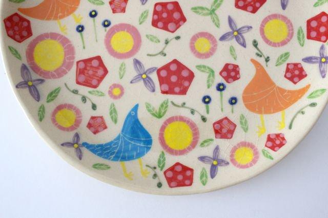 【一点もの】色絵付け大皿 【H】 陶器 工房双子堂 やちむん 画像5