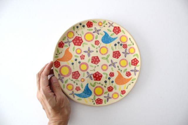 【一点もの】色絵付け大皿 【H】 陶器 工房双子堂 やちむん 画像6