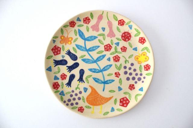 【一点もの】色絵付け大皿 【I】 陶器 工房双子堂 やちむん