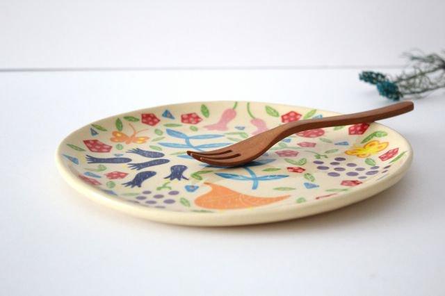 【一点もの】色絵付け大皿 【I】 陶器 工房双子堂 やちむん 画像2