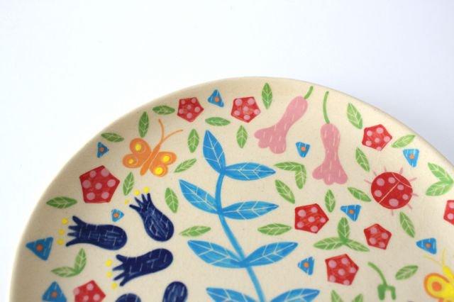 【一点もの】色絵付け大皿 【I】 陶器 工房双子堂 やちむん 画像4