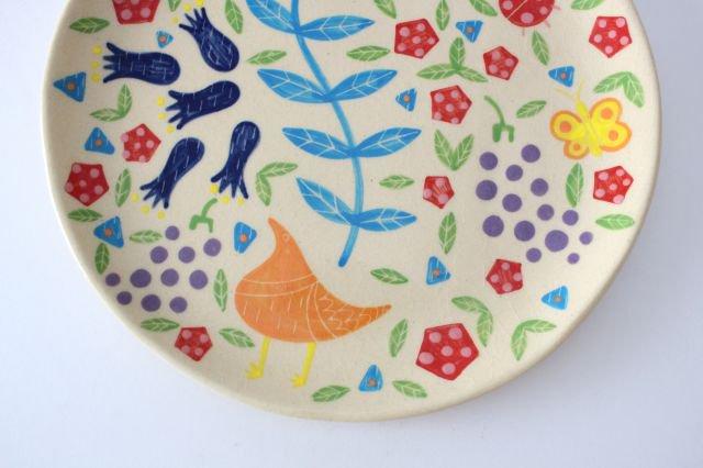 【一点もの】色絵付け大皿 【I】 陶器 工房双子堂 やちむん 画像5