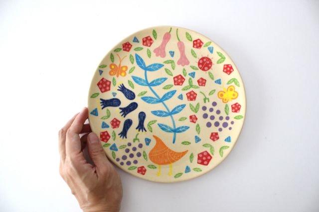 【一点もの】色絵付け大皿 【I】 陶器 工房双子堂 やちむん 画像6