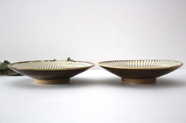 6寸皿 トビカンナ 陶器 小鹿田焼  画像2