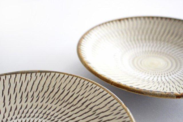6寸皿 トビカンナ 陶器 小鹿田焼  画像3