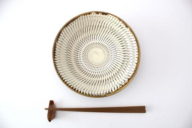 6寸皿 トビカンナ 陶器 小鹿田焼  画像4