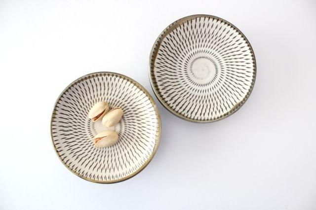 3寸皿 トビカンナ 【A】 陶器 小鹿田焼