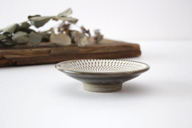 3寸皿 トビカンナ 【A】 陶器 小鹿田焼  画像2