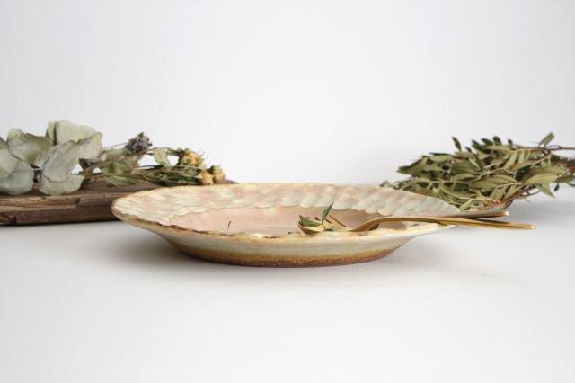 粉福 丸リム皿 L 陶器 木のね 画像2