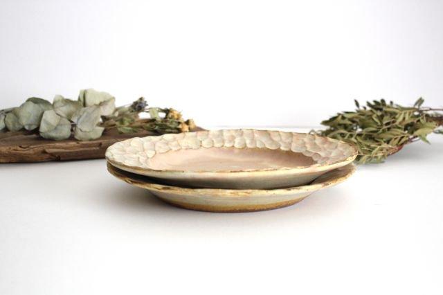 粉福 丸リム皿 L 陶器 木のね 画像4