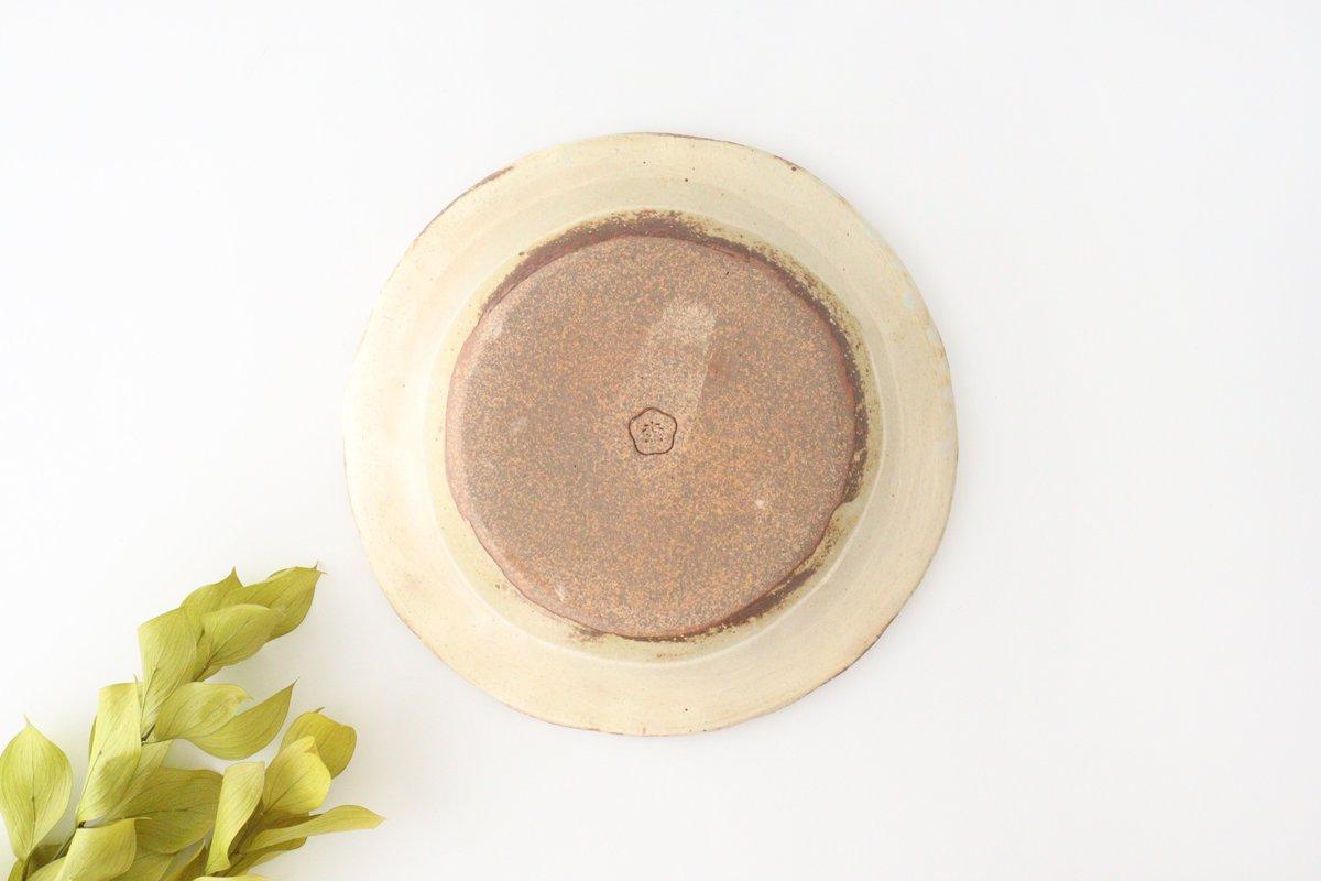 粉福 丸リム皿 L 陶器 木のね 画像6