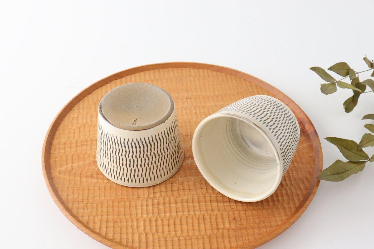 そばちょこ トビカンナ 陶器 小鹿田焼 画像2