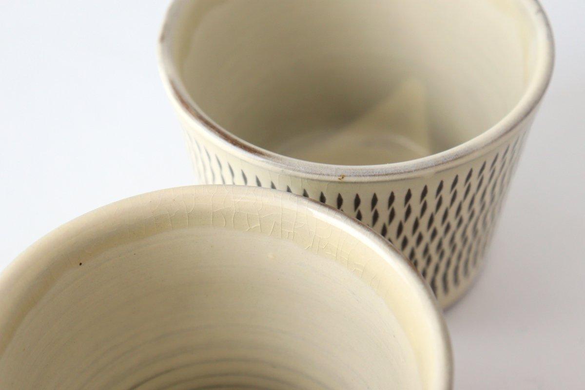 そばちょこ トビカンナ 陶器 小鹿田焼 画像6