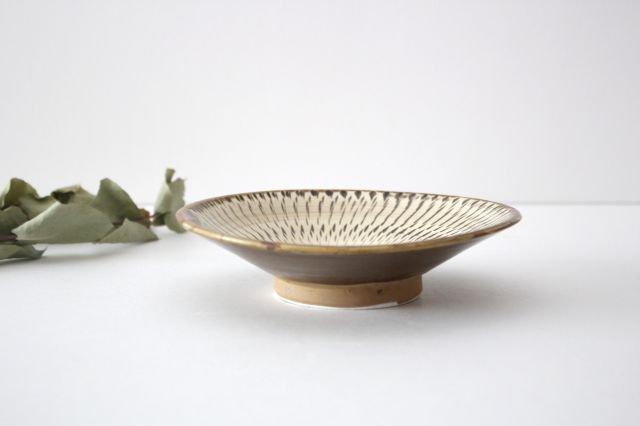 5寸皿 トビカンナ 【C】 陶器 小鹿田焼  画像2