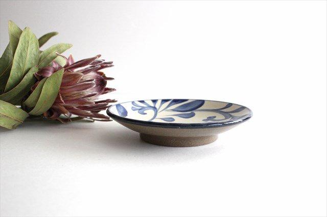 5寸皿 コバルト唐草 陶器 壷屋焼 陶眞窯 やちむん 画像2