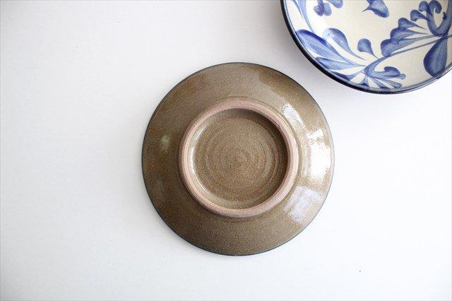 5寸皿 コバルト唐草 陶器 壷屋焼 陶眞窯 やちむん 画像3