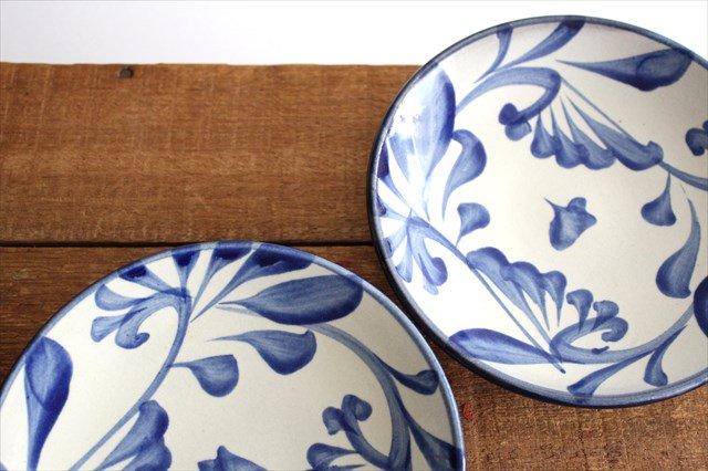 5寸皿 コバルト唐草 陶器 壷屋焼 陶眞窯 やちむん 画像4