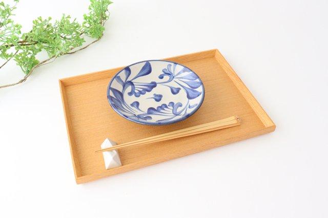 5寸皿 コバルト唐草 陶器 壷屋焼 陶眞窯 やちむん 画像5
