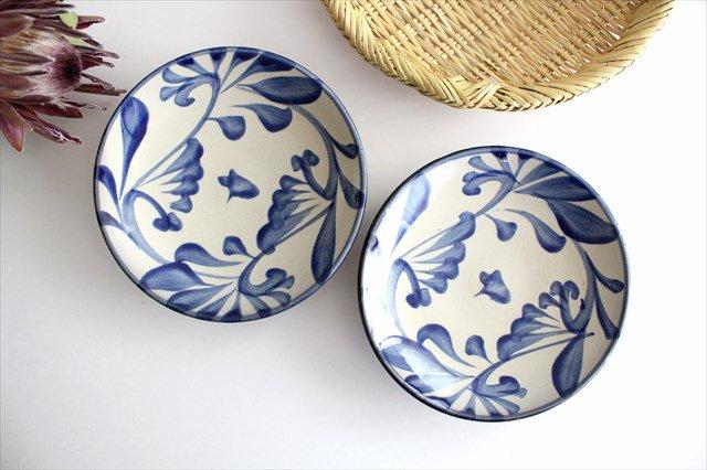 5寸皿 コバルト唐草 陶器 壷屋焼 陶眞窯 やちむん 画像6