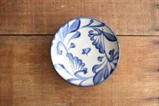 5寸皿 コバルト唐草 陶器 壷屋焼 陶眞窯 やちむん商品画像