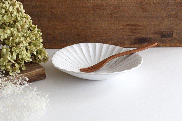 美濃焼 モチーフ 6寸輪花鉢 白 陶器